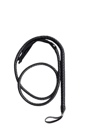 Bdsm Frusta Super Whip 200cm Nera